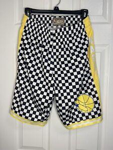 Golden State Warriors Mitchell & Ness Black & White Checkered Swingman Shorts S