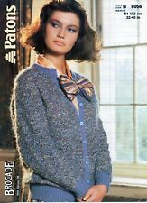 """~ Patons Knitting Pattern For Lady's Lacy Mohair Cardigan ~ 32"""" ~ 40"""" Bust ~"""
