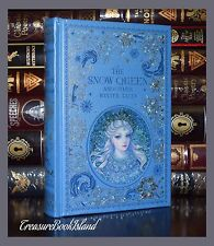 The Snow Queen Other Winter Frozen Tales Sealed Leather Bound Collectible 1st Ed
