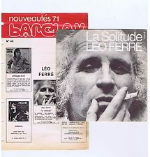 45 RPM SP LEO FERRE LA SOLITUDE(+FEUILLE BARCLAY)
