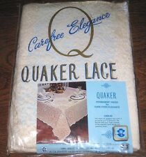 NEW Vintage QUAKER LACE Tablecloth 60 x 80 #1006 JUBILEE Pattern NATURAL OBLONG