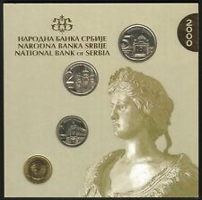 Yugoslavia Official Central Bank Mint Set 2000. 4 Coins, 50 Para, 1, 2, 5 dinara