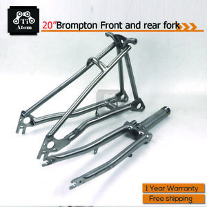 Ti Atom/Titanium 20inch Rear Frame and Front Fork for Brompton(New)