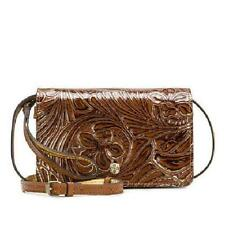 Patricia Nash Francia Tooled Leather Crossbody Metallic Tan Tooled New With Tags