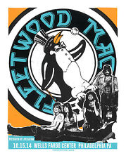 FLEETWOOD MAC  PHILADELPHIA  2014  GIG POSTER / SIGNED BY THE ARTIST