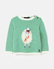 Joules Baby Boys Ivy Intarsia Jumper  - Green Sheep