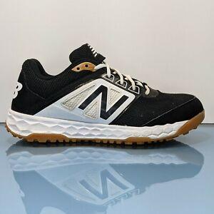 New Balance 3000 V4 Mens 10 D Black White Turf Athletic Baseball Running Shoes