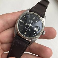RARE VINTAGE ROLEX DATEJUST REF. 6605 BLACK DIAL CIRCA 1959 WITH 1066 MOVEMENT