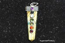 "CHARGED 7 Chakra Labradorite Crystal Perfect Pendant™ + 20"" Chain"