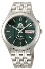 Orient Silver Dark Green Dial Men's Automatic Watch 9 Faceted  Orient Box