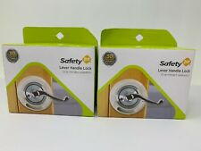 New Safety 1st Lever Handle Lock Lot of 2 One Handed Operation Baby Child Safety