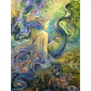 MER FAIRY - A 'LARGE' JOSEPHINE WALL BIRTHDAY CARD 8.5 X 11 INCHES (almost A4!)