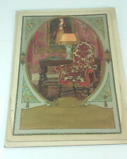 ART DECO PERIODS OF ROMANCE RENAISSANCE INTERIORS 3 ROOMS HAND COLORED