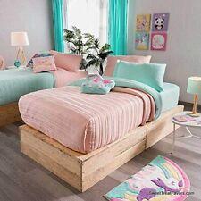 Pink Turquoise Comforter Bedding Teens Girls Reversible SHEETS Green  FULL 5PCS