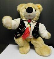 """Steiff TEDDY BEAR 12"""" Nobi Kastelruther Spatzen Mascot Stuffed Animal!"""