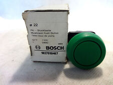 NEW IN BOX LOT OF (2) BOSCH TYPE D1B1G MUSHROOM PUSH BUTTON GREEN P/N 1827010467