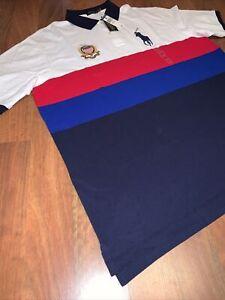 Men Polo Ralph Lauren 3XLT Big Pony USA America Flag  #3591 10001 0170 060