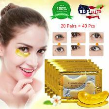 20 Pairs Under Eye Mask Gold Collagen Eye Patch Anti Wrinkle Dark Circle Gel Pad
