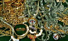 gold-filled sterling silver 2 lbs Vintage Goldtone Silvertone Jewelry Lot some
