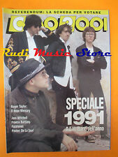 rivista CIAO 2001 1/1992 POSTER De La Soul R.E.M. Roger Taylor Battiato * No cd