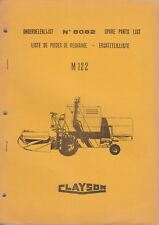 CLAYSON Model M122 Combine ~ Service Parts Catalogue ~ Original 1968