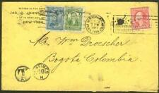 Colombia 1917 cover from USA/1c & 5c as Postage Due