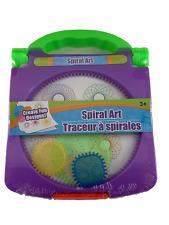 Spiral Art Craft Set Spirograph Stencil Spiral Wheels Compact Travel Brand New