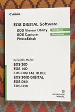 Mint Canon EOS Digital Software Manual 20D 10D Rebel D60 D30