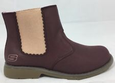 New Sketchers Uptown Shine Sisters Burgundy Slip On Kid Girl  Boots 1