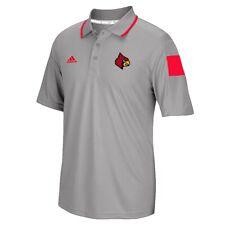 Louisville Cardinals NCAA Adidas Men's 2014 Sideline Grey Coaches Polo Shirt
