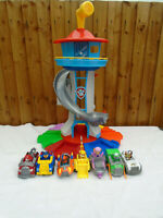 Paw Patrol My Size Look Out Tower Playset 7 Vehicles & Figures Inc Tracker 🐾
