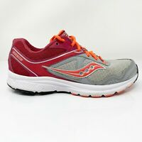 Saucony Womens Grid Cohesion 10 S15333-9 Gray Maroon Running Shoes Size 9