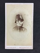Rare Victorian Carte De Visite CDV: Rees: London: Solider In Dress Helmet Spike