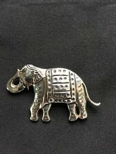 CYNTHIA GALE Sterling Silver 925 Elephant Brooch Pin Jewelry