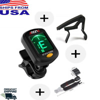 SET - Chromatic DIGITAL Clip On Tuner + Capo + String Repair String Winder Tool