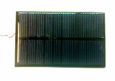 Mini Pannello solare fotovoltaico 6V 1,1W 210mA  policristallino 110 x 60 x 2m