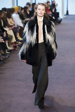 CHLOE Handstitched Tuxedo Style Satin and Wool Pants (retail £750)
