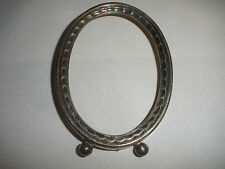 """Antique Inman baby child ornate picture photo frame 3 1/2""""x 2 1/2"""""""