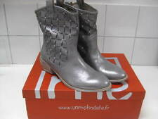 RRP£149 BNIB NEW Ladies UME silver real leather COWBOY BOOTS size UK 5