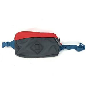 JanSport Waisted Fanny Pack Grey/Red/Blue Unisex New With Tags