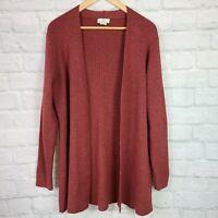 Brooks Brothers Women's XL Cardigan Sweater Dark Red Merino Wool Open-Front