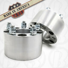 """Two 8 Lug 6.5"""" To 8 x 6.5"""" Wheel Adapters/Spacers 3"""" Thick 9/16 Studs & Lug Nuts"""