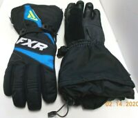 FXR Men's Small Leather Palm & Fingers Gauntlet Snowmobile Gloves Black