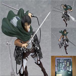 Anime Attack on Titan Figma 213 Levi·Ackerman Action Figure Model Toy No Box