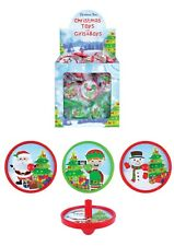 Christmas Spinning Tops Party Loot Prizes Stocking Fillers Favour Gift