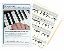 KEYNOTES Piano Stickers for 49, 54 or 61-KEY Music Keyboard + Online Lessons