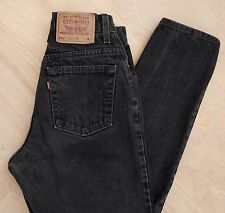 vtg Levi's 551 Relaxed Fit Tapered Leg High Waisted Mom Jeans Black 26in waist