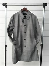 ASOS British Houndstooth Plaid Long Trench Coat XL XXL Topman H&M
