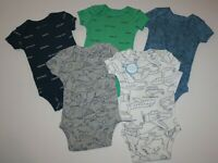 New Carter/'s Boys 5 Pack Bodysuits Tops Planes Cars Fire Truck NB 3 9 12 18 24m