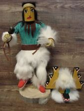 Native American Navajo Handmade Hemis Masked Kachina Dancer